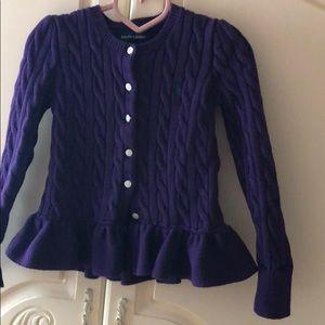 Girls sweater jacket by Ralph Lauren